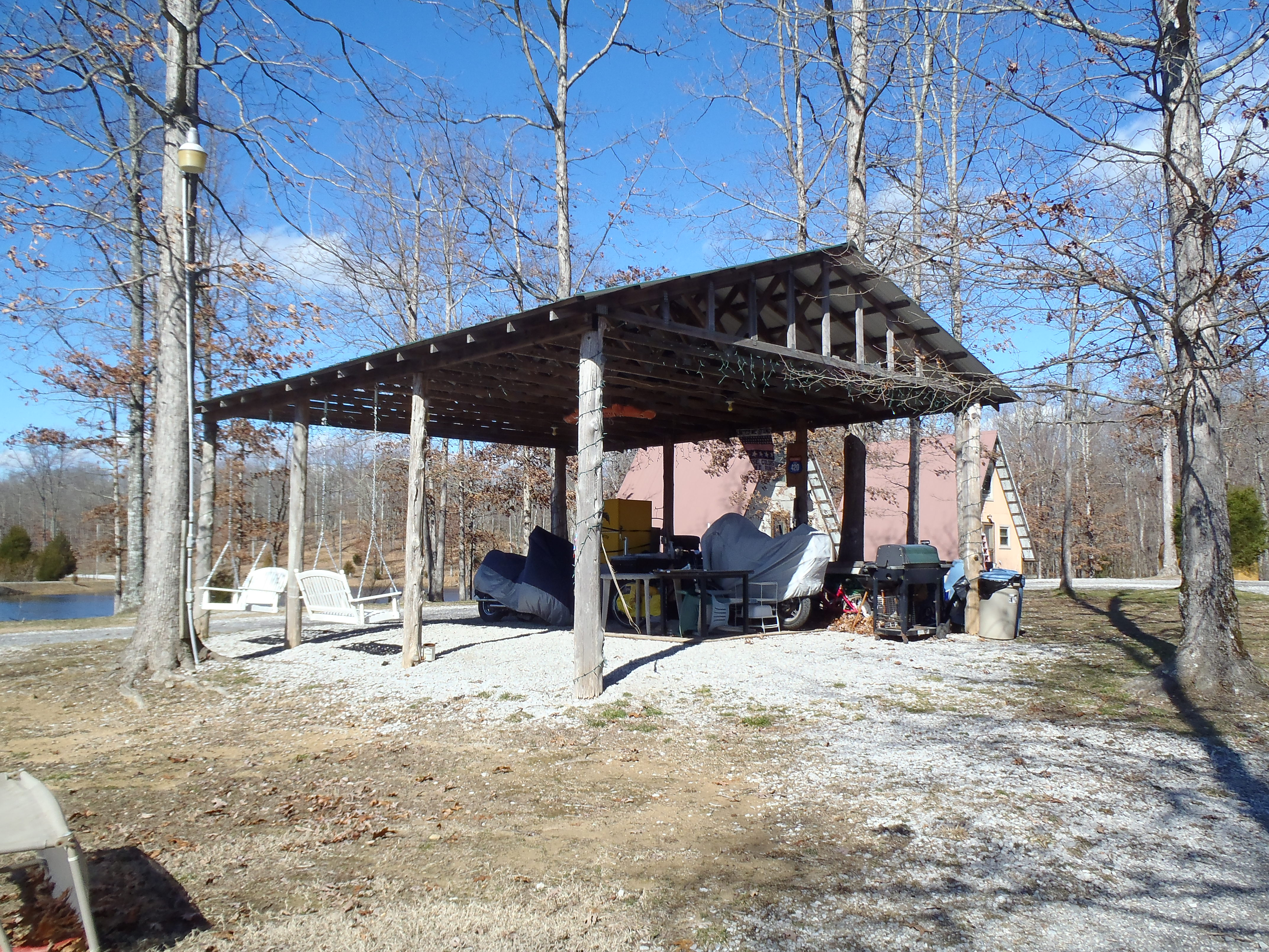 Party pavilion on a sunny day